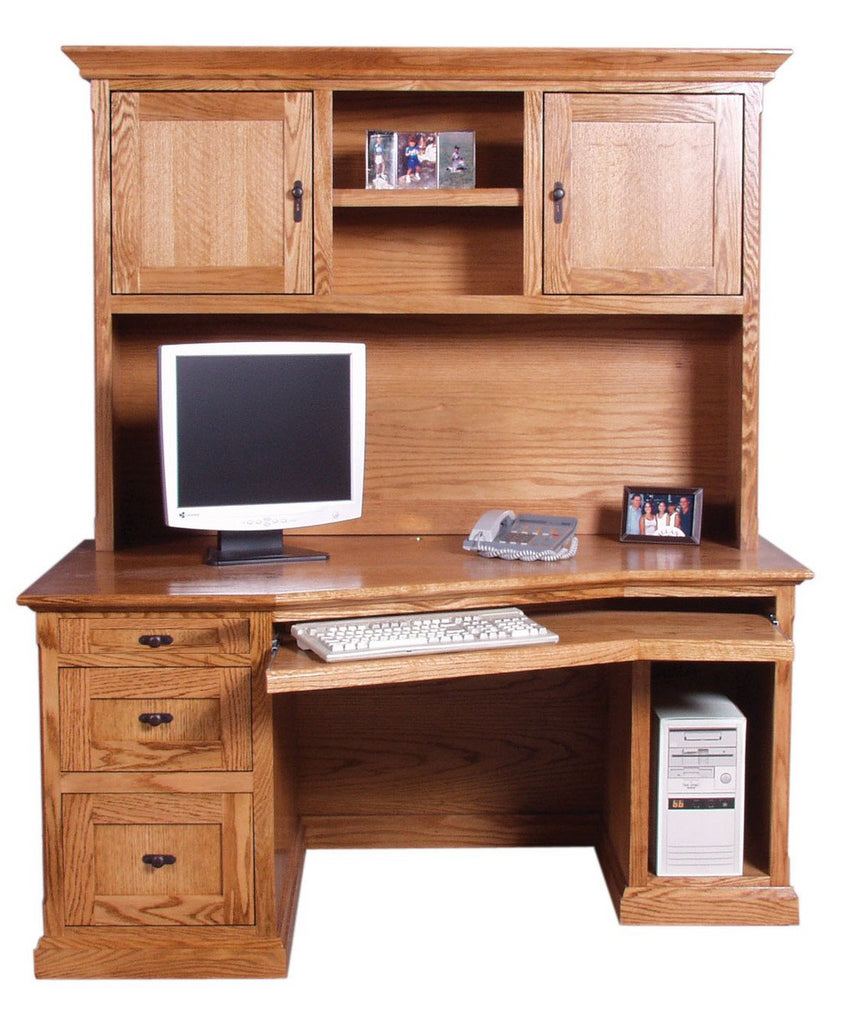 "Forest Designs Mission Angled Desk + Hutch (60W x 71""H x 35""D)"