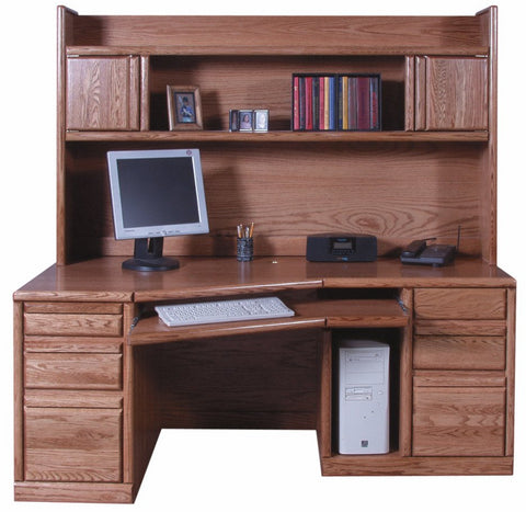 Forest Designs Bullnose Angled Desk: 74W x 29H x 35D (Hutch is sold separately-$799)