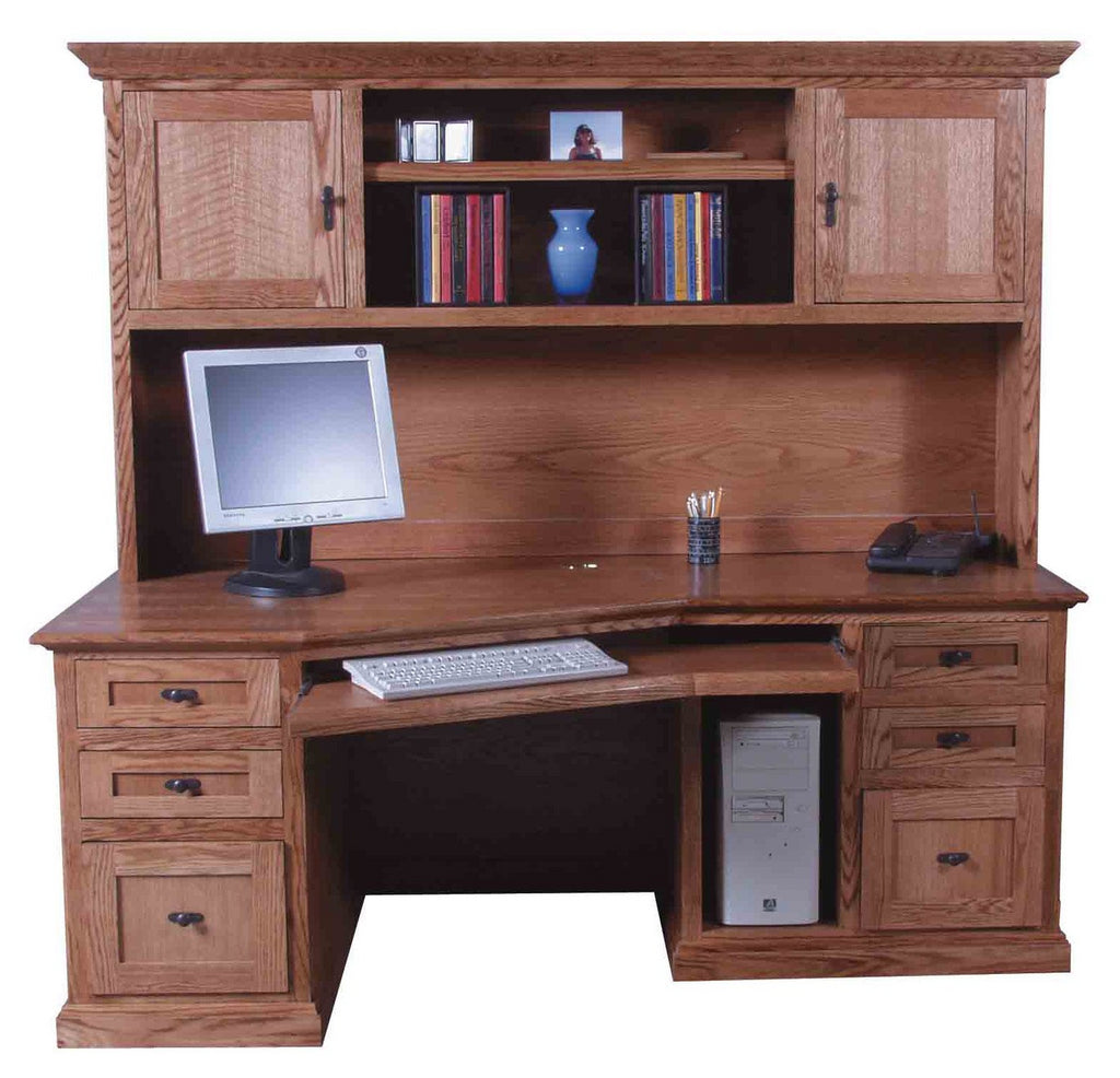 Forest Designs Mission Hutch for 1055: 74w x 42H x 13D (Desk Sold Separately-$1,599)