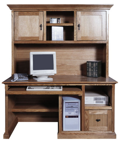 Forest Designs 60w Mission Computer Desk & Hutch