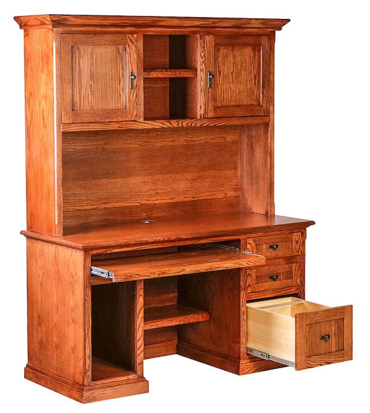Forest Designs Mission Desk & Hutch: 56W X 72H X 24D