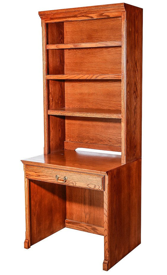 Forest Designs Traditional Oak Desk & Hutch: 32w x 72h
