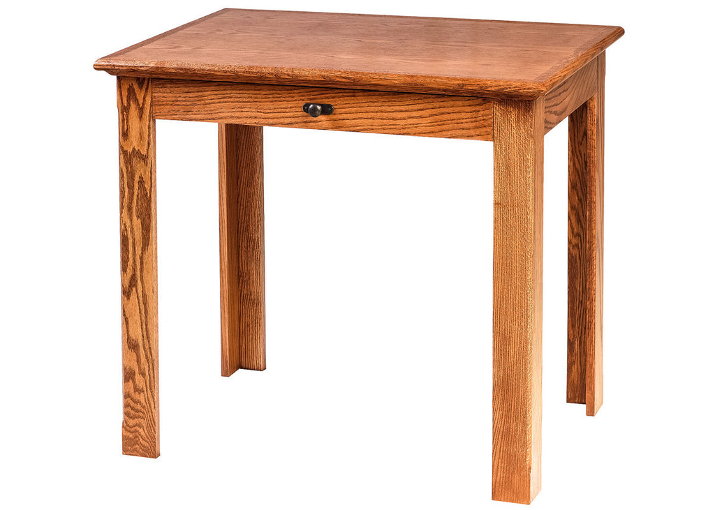 Forest Designs Mission Oak Writing Table w/Drawer: 36W x 30H x 24D