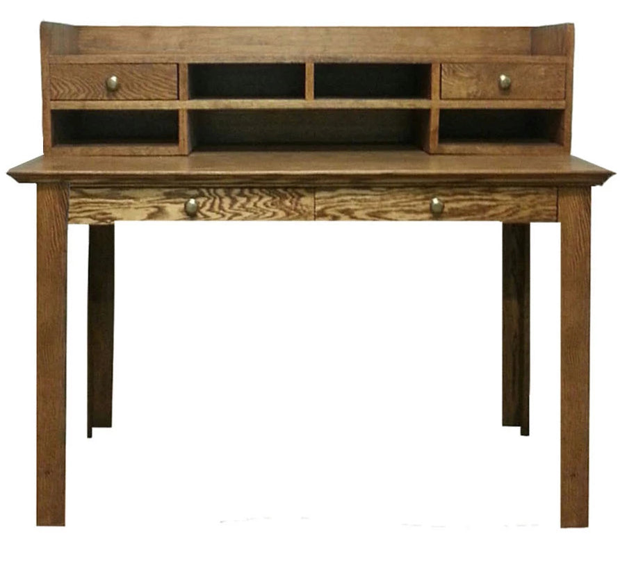 Forest Designs Traditional Writing Table w/2 Drawers & Mini-Hutch