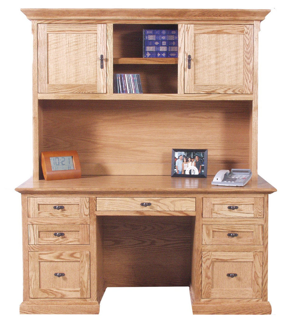 "Forest Designs Mission Desk + Hutch (60W x 72""h x 24""D)"