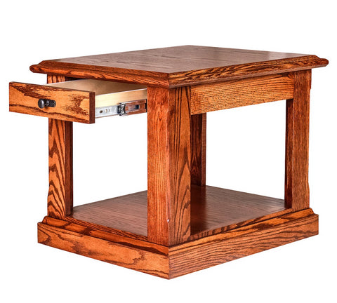 Forest Designs Mission End Table: 21W X 20H X 24D