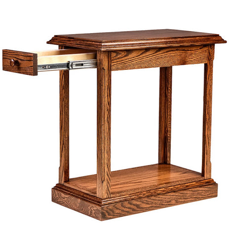 Forest Designs Traditional End Table: 14W x 26H x 24D (Black Knobs)