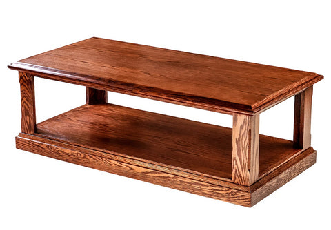 Forest Designs Mission Cocktail Table: 48W X 16H X 24D