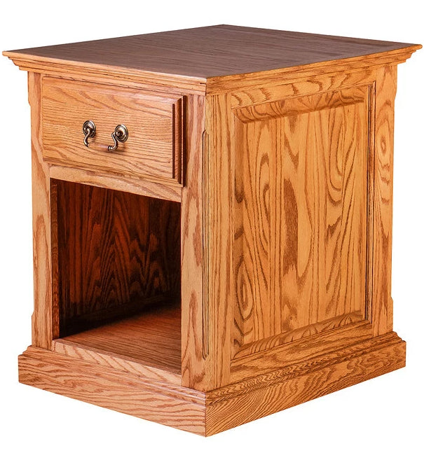 Forest Designs Traditional Oak End Table w/Raised Panel Sides: 20W x 25H x 24D