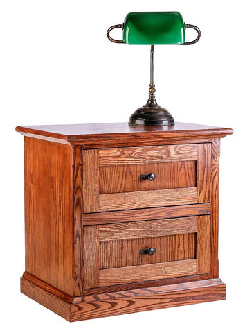 Forest Designs Mission Oak Two Drawer Nightstand: 25W x 24H x 18D