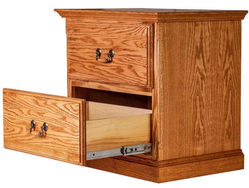 Forest Designs Traditional Two Drawer Nightstand: 25W X 24H X 18D