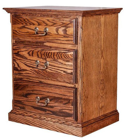 Forest Designs Traditional Three DrawerNightstand: 25W X 30H X 18D