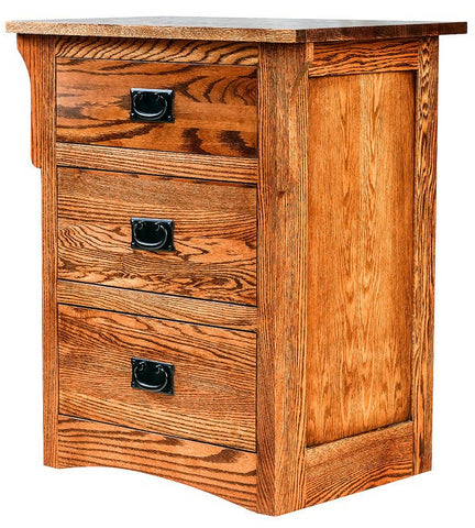 Forest Designs Arts & Crafts 3 Drawer Nightstand (25W x 30H x 18D)