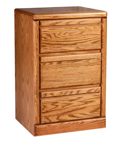 Forest Designs Bullnose Oak Three Drawer Nightstand: 19W x 30H x 18D