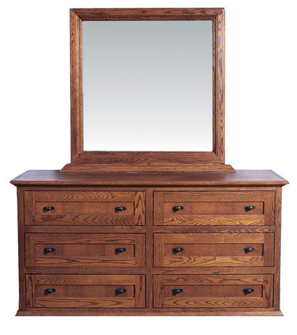Forest Designs Mission Six Drawer Dresser: 60W x 32H x 18D (No Mirror)