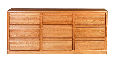 Forest Designs Bullnose 9 Drawer Dresser (72W x 32H x 18D)