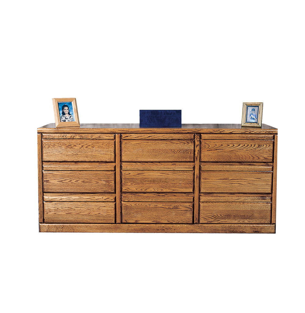 Forest Designs Bullnose Nine Drawer Dresser: 72W x 32H x 18D