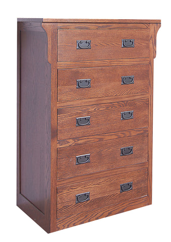 Forest Designs Arts & Crafts 5 Drawer Chest: 34W x 48H x 18D
