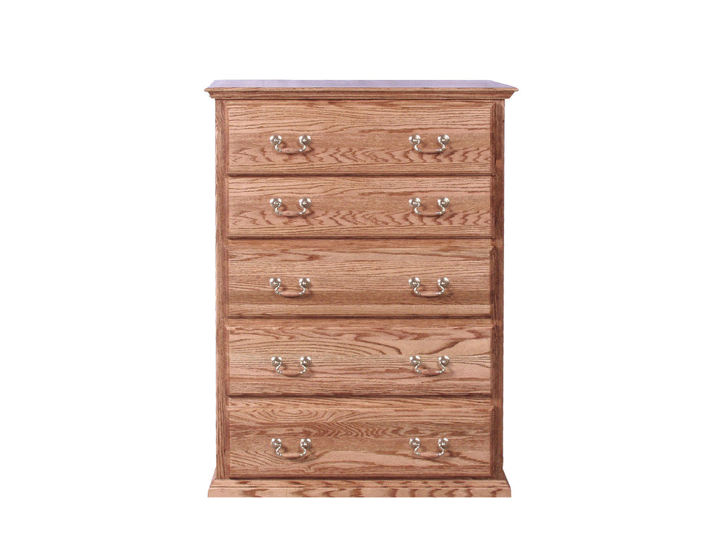 Forest Designs Traditional Golden Five Drawer Chest: 34W x 48H x 18D