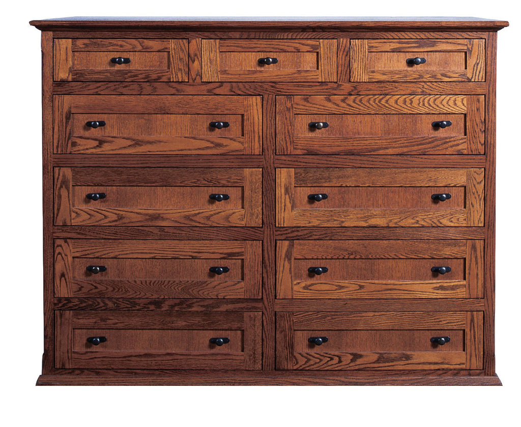 Forest Designs Mission Eleven Drawer Dresser: 60W x 48H x 18D