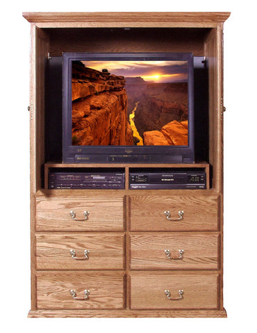 Forest Designs Traditional TV Armoire (48W x 72H x 23D)