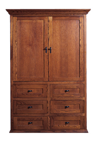 Forest Designs Mission TV Armoire (48W x 72H x 23D)