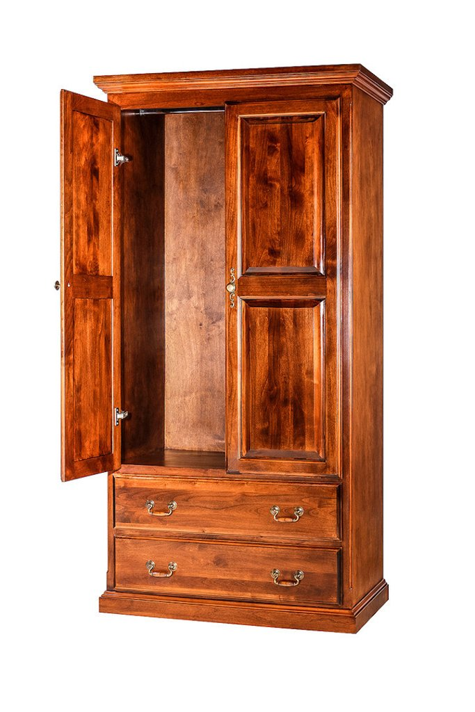 Forest Designs Traditional Wardrobe (60W x 72H x 21D)
