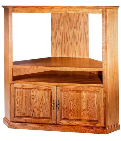 Forest Designs Traditional Oak Large Corner TV Unit: 63W x 63H x 32D