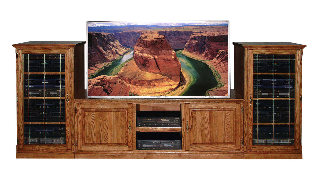 Forest Designs Traditional TV Stand & Audio Towers