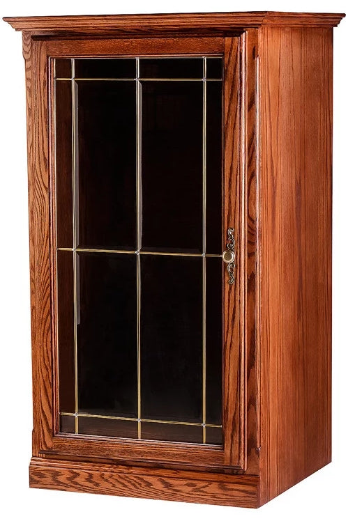Forest Designs Traditional Oak Audio Tower w/V-Groove Glass Door (25W x 45H x 21D)