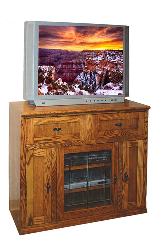 Forest Designs Mission TV Stand with Media Storage: 43W x 40H x 21D