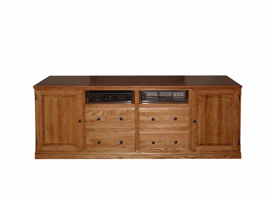 Forest Designs Traditional TV Stand with Drawers: 80W x 30H x 18D