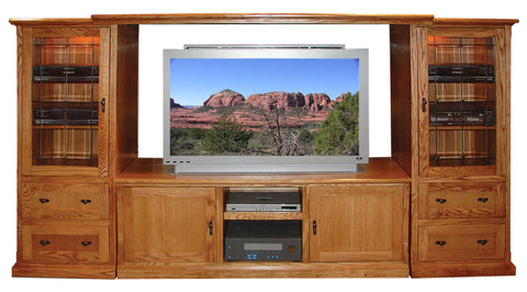 Forest Designs Mission TV Stand & Piers
