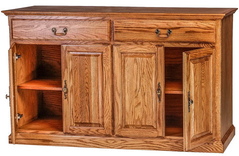 Forest Designs Traditional Oak Buffet (36H x 18D x Width of Choice)