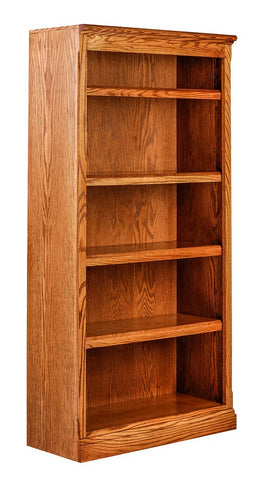 Forest Designs Mission Oak Bookcase (30W x 13D x Height of Choice)
