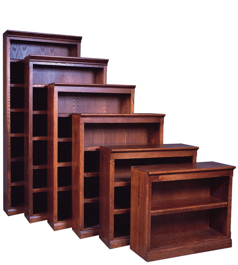 Forest Designs Mission Bookcase: 36W x 13D x Height of Choice