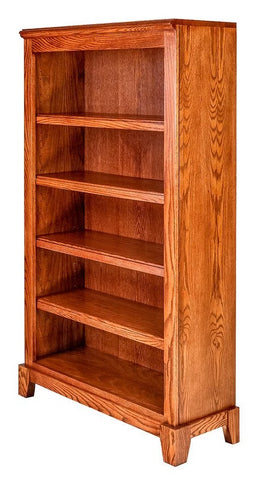 Forest Designs Shaker Oak Bookcase: 36W x 13D x Height of Choice