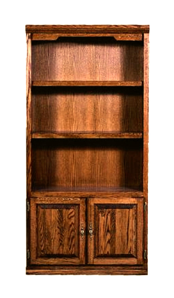 Forest Designs Traditional Bookcase w/Lower Doors (36W x 13D x Height of Choice)
