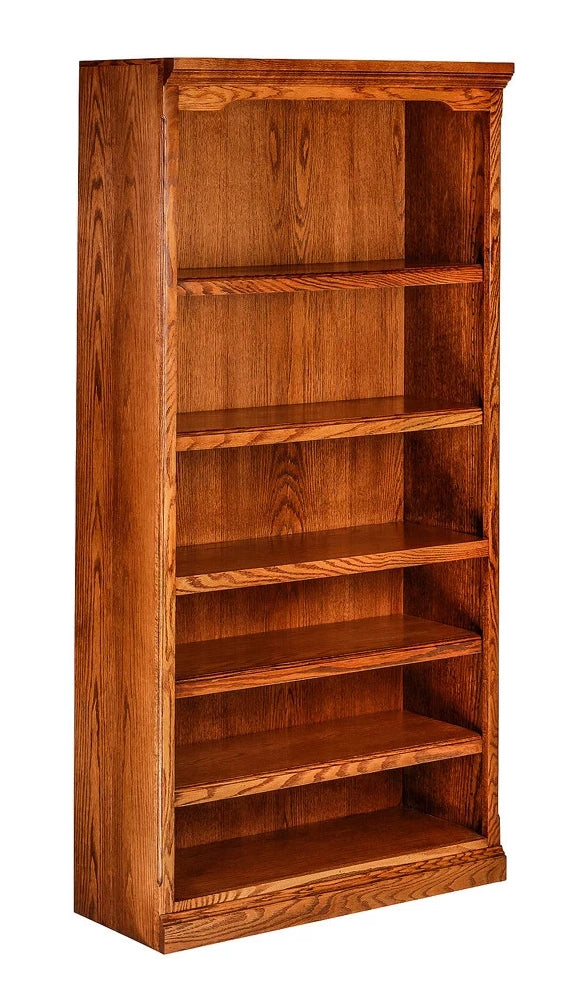 Forest Designs Traditional Oak Bookcase: 36W x 13D Choose Your Height