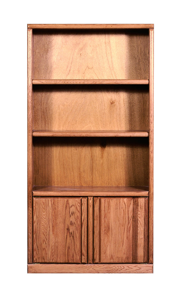 Forest Designs Bullnose Bookcase with Lower Doors: 36W X 13D Choose Your Height