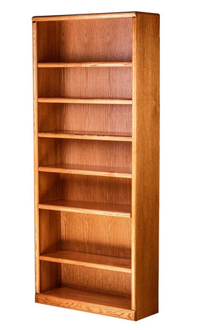Forest Designs Bullnose Bookcase: 36W x 13D x Height of Choice