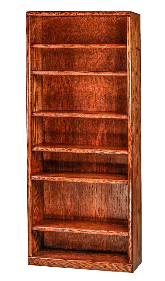 Forest Designs Bullnose Oak Bookcase: 36W x 13D Choose Your Height