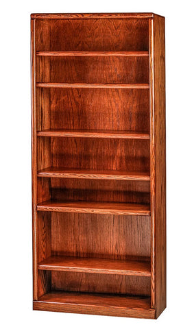 Forest Designs Bullnose Oak Bookcase (36W x 13D x Height of Choice)