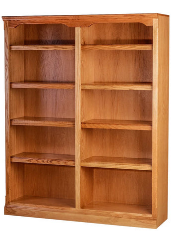 Forest Designs Traditional Oak Bookcase: 48W x 13D Choose Your Height