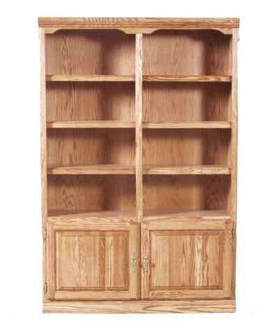 Forest Designs Traditional Bookcase w/Lower Doors (48W x 13D x Height of Choice)