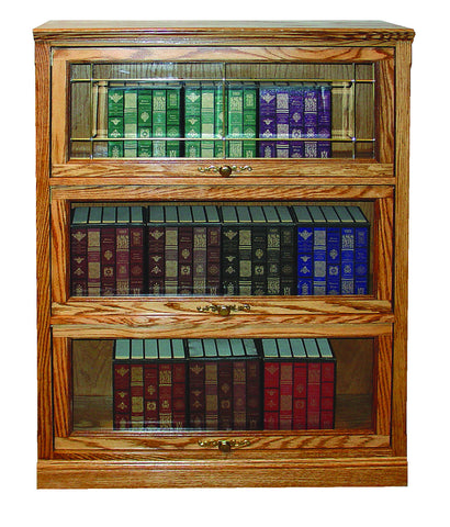 Forest Designs Traditional Lawyers Bookcase: 36W x 49H (Three Doors) x 13D