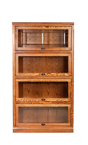 Forest Designs Mission Lawyer Bookcase: 36W X 79H X 13D (Four Doors)