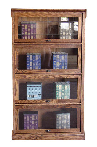 Forest Designs Mission Lawyers Bookcase: 36W x 64H (Four Doors) x 13D