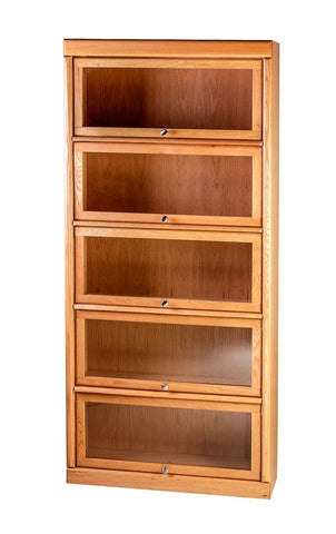 Forest Designs Bullnose Lawyers Bookcase: 36W X 79H X 13D (Five Doors)