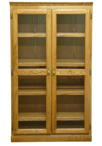 Forest Designs Traditional Bookcase w/Glass Doors (36W x 18D x Height of Choice)